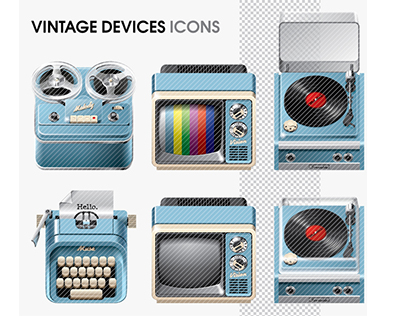 Vintage Devices Icons