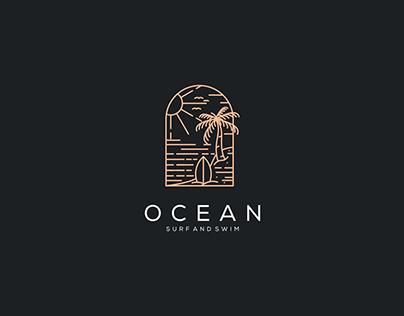 Ocean Surf And Swim Logo