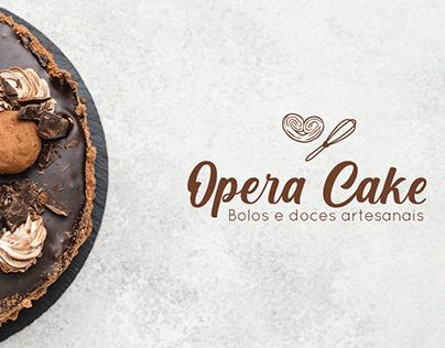 Identidade visual, confeitaria Opera Cake