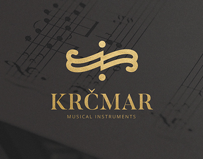 Krčmar Musical Instruments visual identity