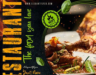 Restaurant – Premium PSD Flyer Template
