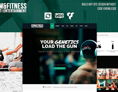 Home - Gym WordPress Theme features