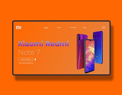 UI Design Xiaomi Landing Page