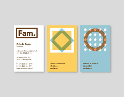 Fam. Advocaten - Visual identity