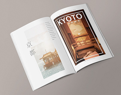 Japan travel magazine design - Flavor of Kyoto