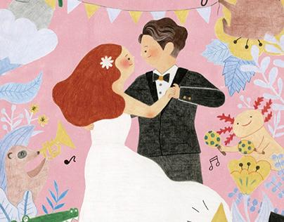 Wedding Card for cute couple