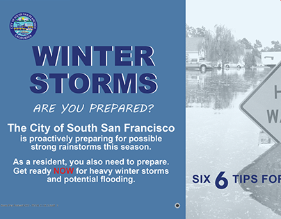 City of South San Francisco | Winter Storm Prep Mailer