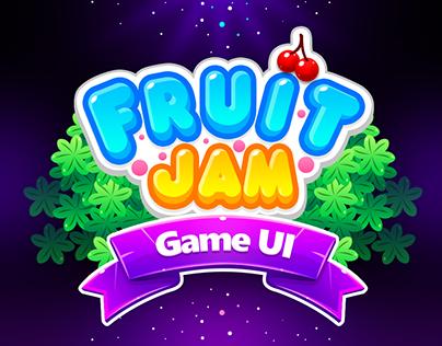 Match 3 Game UI: Fruit Jam