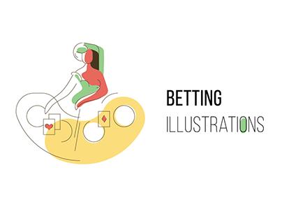 Illustrations for a gambling & casino website