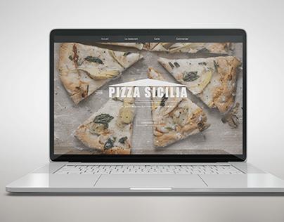 Site Pizza Sicilia (fictif)