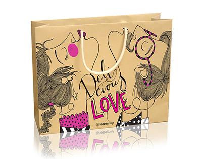 Delicious Love, paper bag