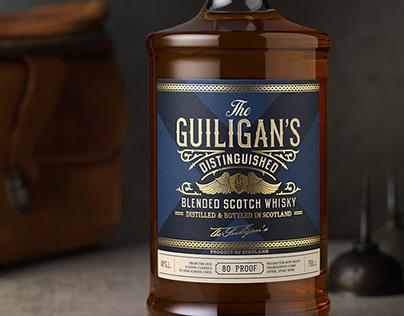 The Guiligan's Distinguished Packaging Design & Logo