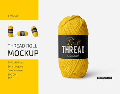 Thread Roll Mockup Set
