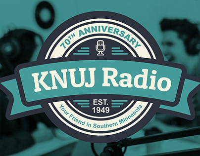 KNUJ Radio 70th Anniversary Logo