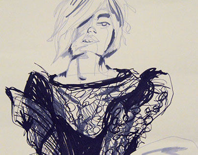 Blind Contour - Fashion Illustrations