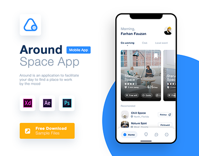 Co-working Finder App - App Design