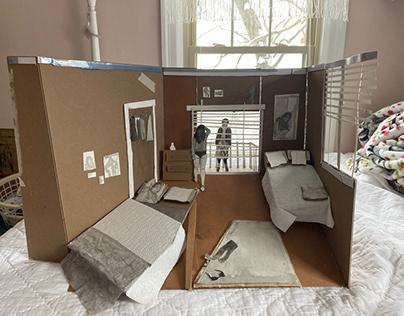 Bedroom Scene- 3D Drawing