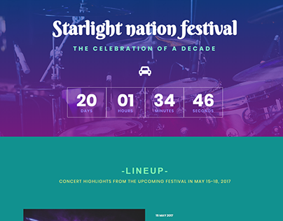 Festival landing Page