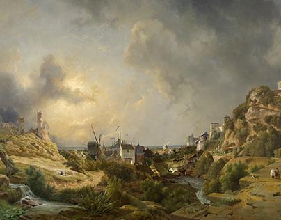 Three century`s of landscape painting