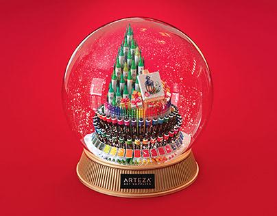 Christmas Card for Art Supplies Brand
