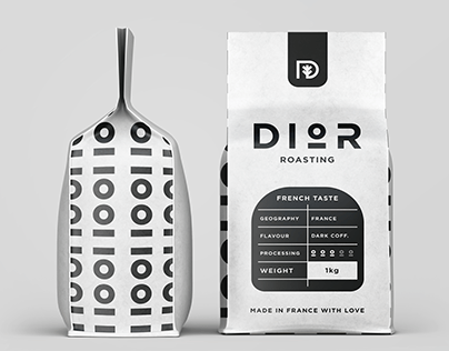 Dior Coffee Packaging Design.