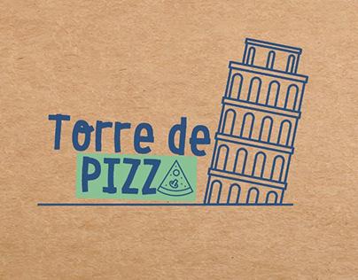 Torre de Pizza - Brinquedo Sustentável