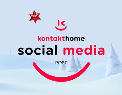 Social Media Post Design for Kontakt Home