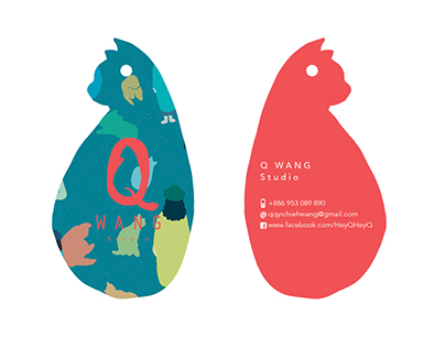 Q-WANG Studio Logo Design