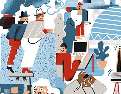 Editorial illustrations 2015 winter