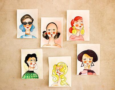 -Girls in watercolors-