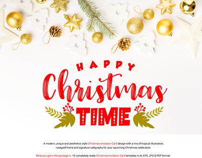 10 Christmas Invitation Card Template