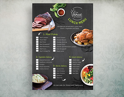 Branding, Menu Design and Info Packs - The Venue