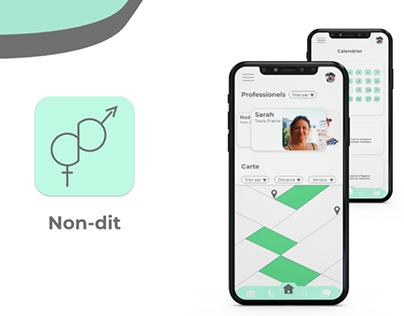 NON-DIT - Maquette application & création logo