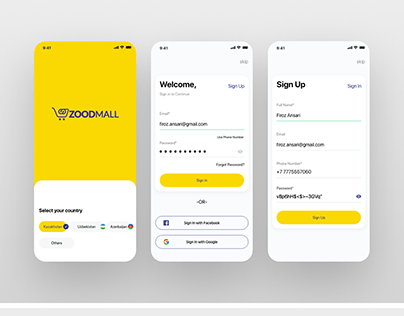 Online Shopping with Tracking Design App