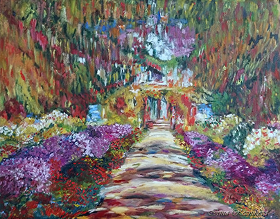 copy of Monet's painting