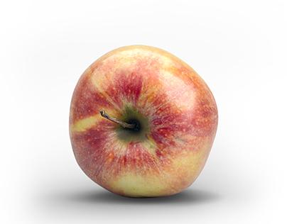 Red Green Apple 3D Model