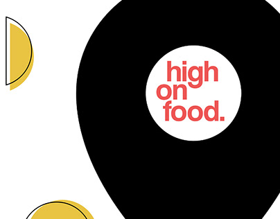 Logo design for High on food.