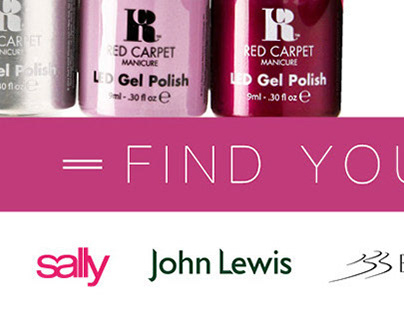 Website and Social Media Graphics - Red Carpet Manicure