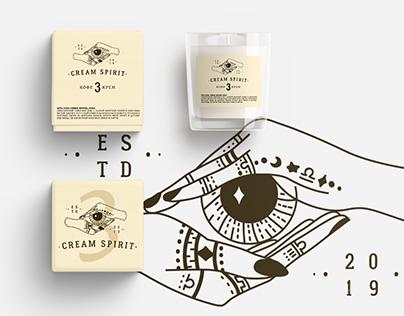 Hand drawn logo creating process - Cream Spirit