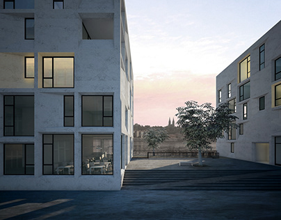 Raumplan Apartment Building