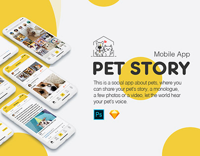 Pet Story UI Kit - Design by Uilake