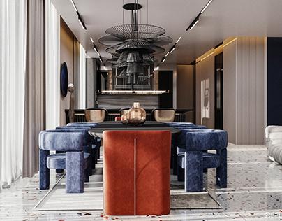 Living Room & Gym Design