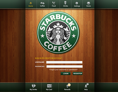 Starbucks Application Design Concept