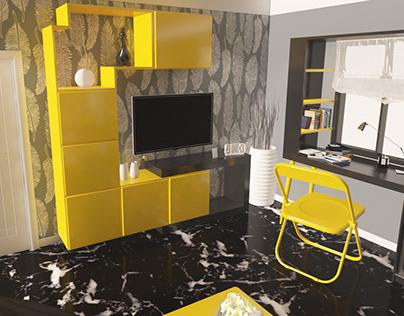 Bohemia Yellow Room Interior