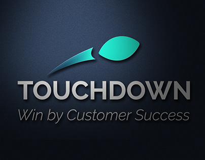 TOUCHDOWN- WIN BY CUSTOMER SUCCESS- LOGO DESIGN