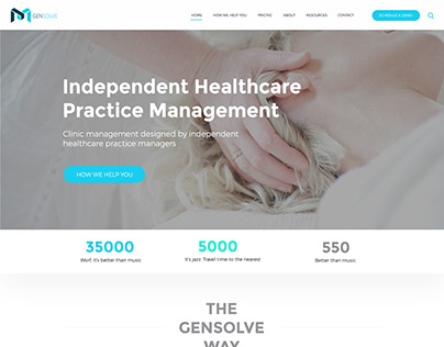 GENSOLVE HOME PAGE CONCEPT