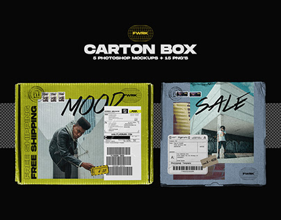 Carton Box - Photoshop Mockup