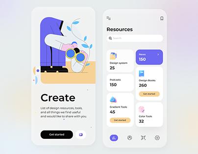 Free Design Resources Mobile App UI Kit