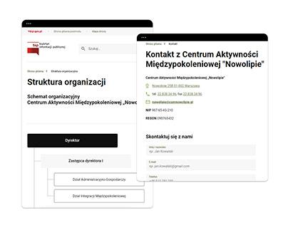 Biuletyn Informacji Publicznej - Warszawa
