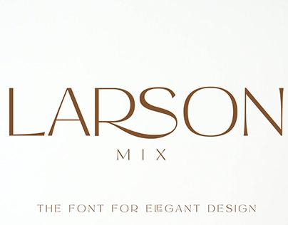 Larson Mix Modern Advertisement Font